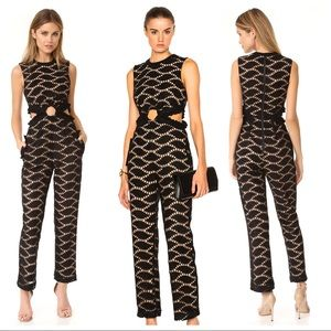 Self-Portrait Cutwork Lace Embroidered Jumpsuit